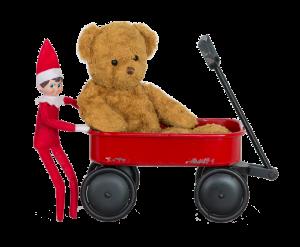 Elf_Pushing_Bear_in_Wagon