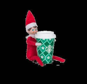 Elf_with_Starbucks